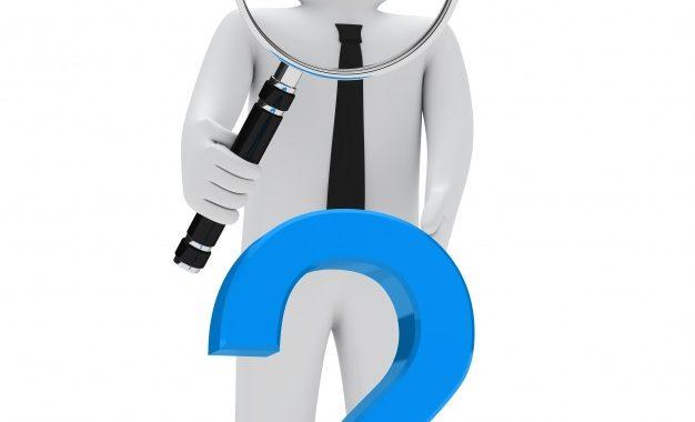Monigote Lupa Gigante Simbolo Interrogacion Azul 1156 264